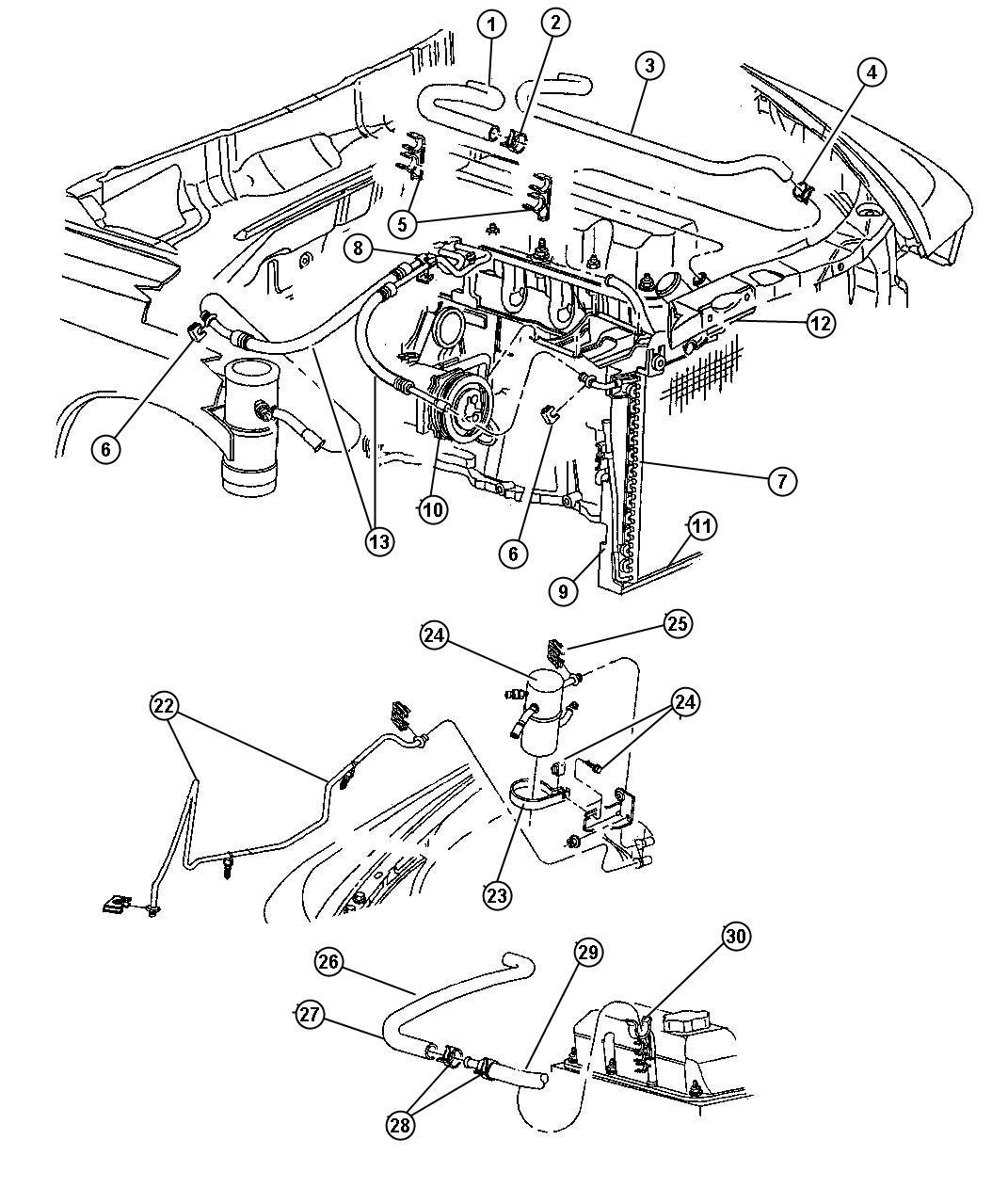 Dodge Dakota Line. A/c liquid. Air, conditioning