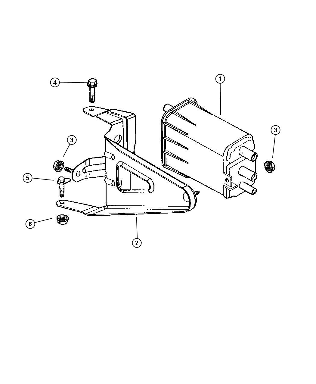 Dodge Dakota Canister Vapor Gallonfuel Enginep
