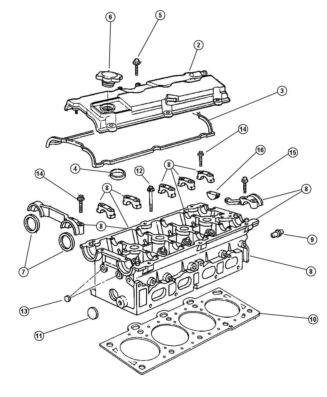 2006 Chrysler Town & Country Gasket. Valve cover. Head