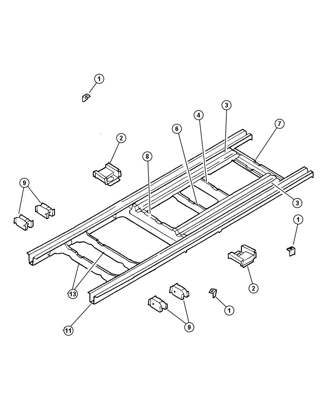 Jeep Cherokee Rail. Rear floor pan side. Epic, conversion