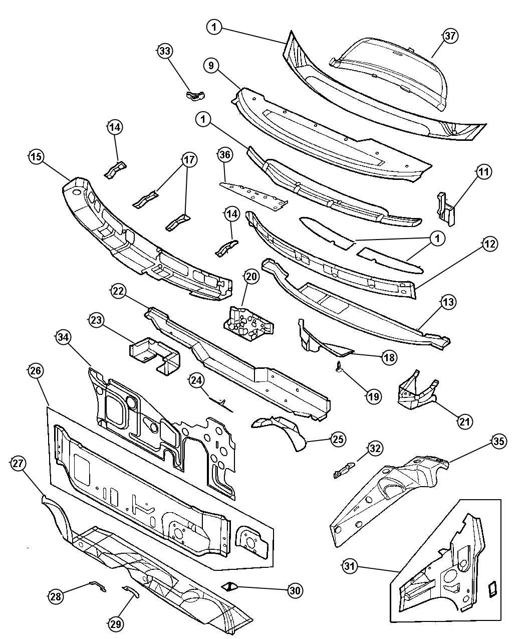Chrysler Sebring Nut Plastic M5x1 60 Carpet Attaching Insert Assembly Cleaner Noise