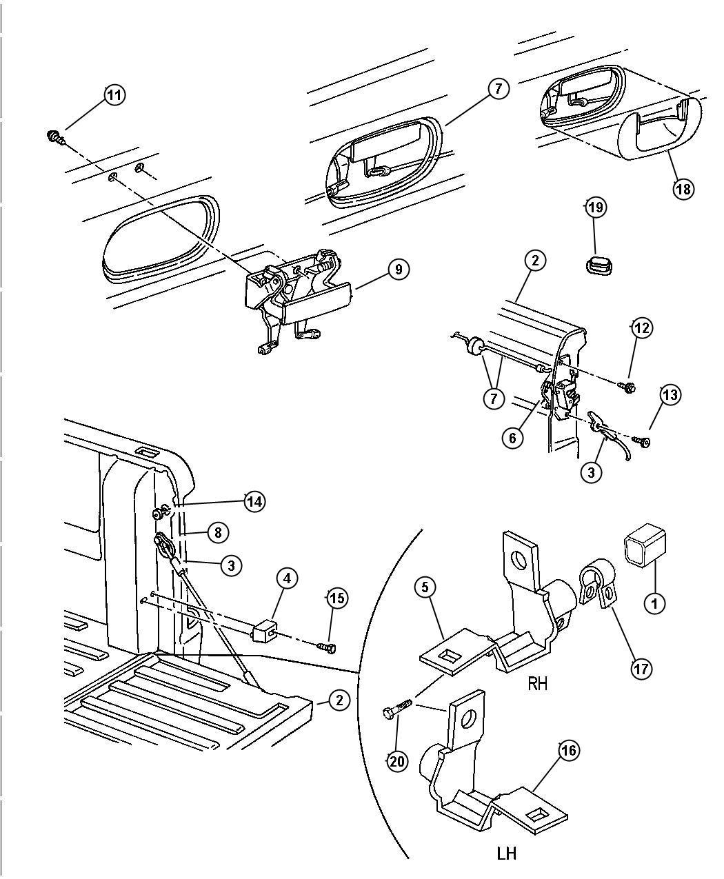 Dodge Ram Screw 312 18x3 00 Screw Tailgate Mounting Tailgate Mtg