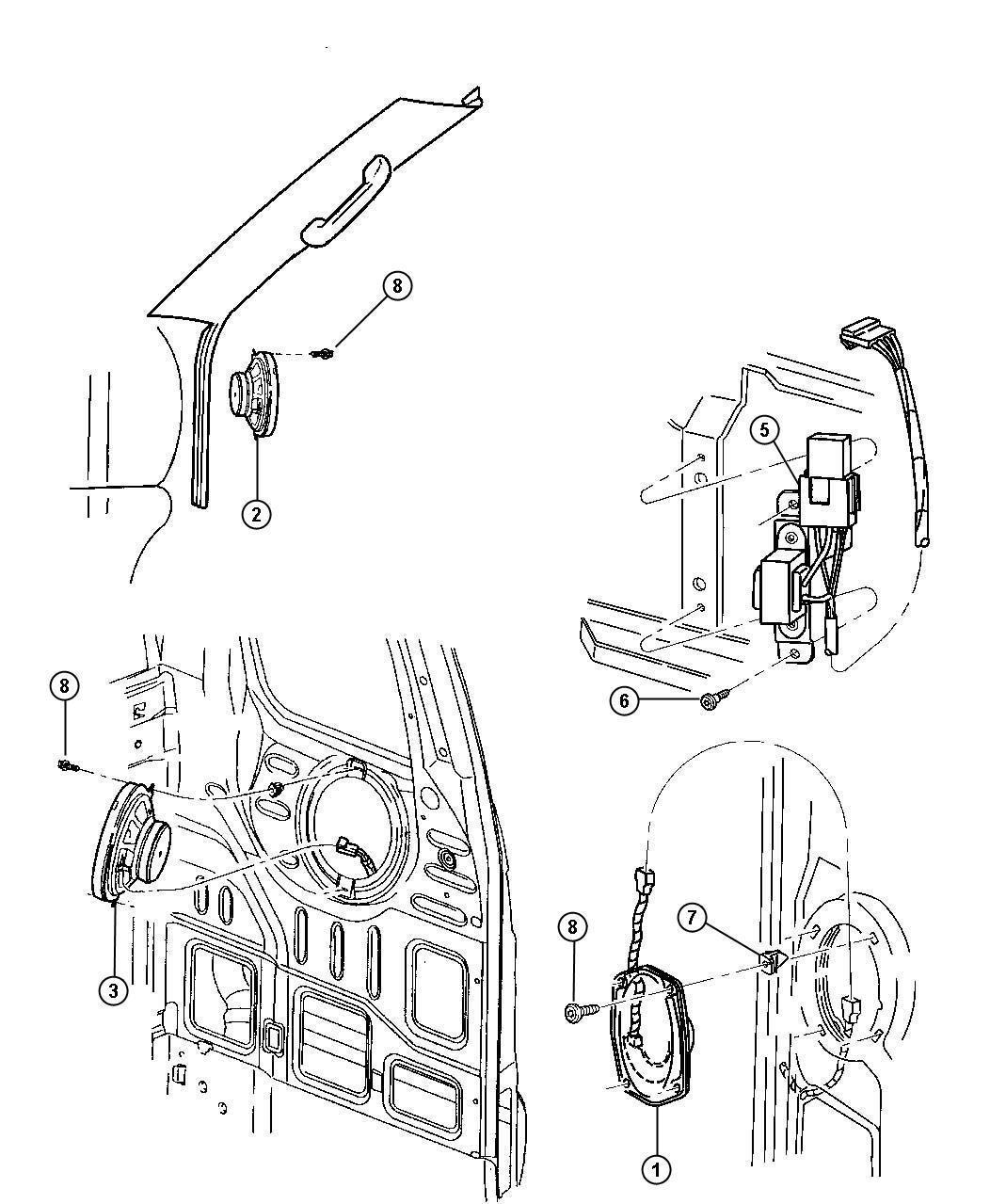 Dodge Ram 3500 Speaker. Front. 5.25. Standard (rcb/rcd