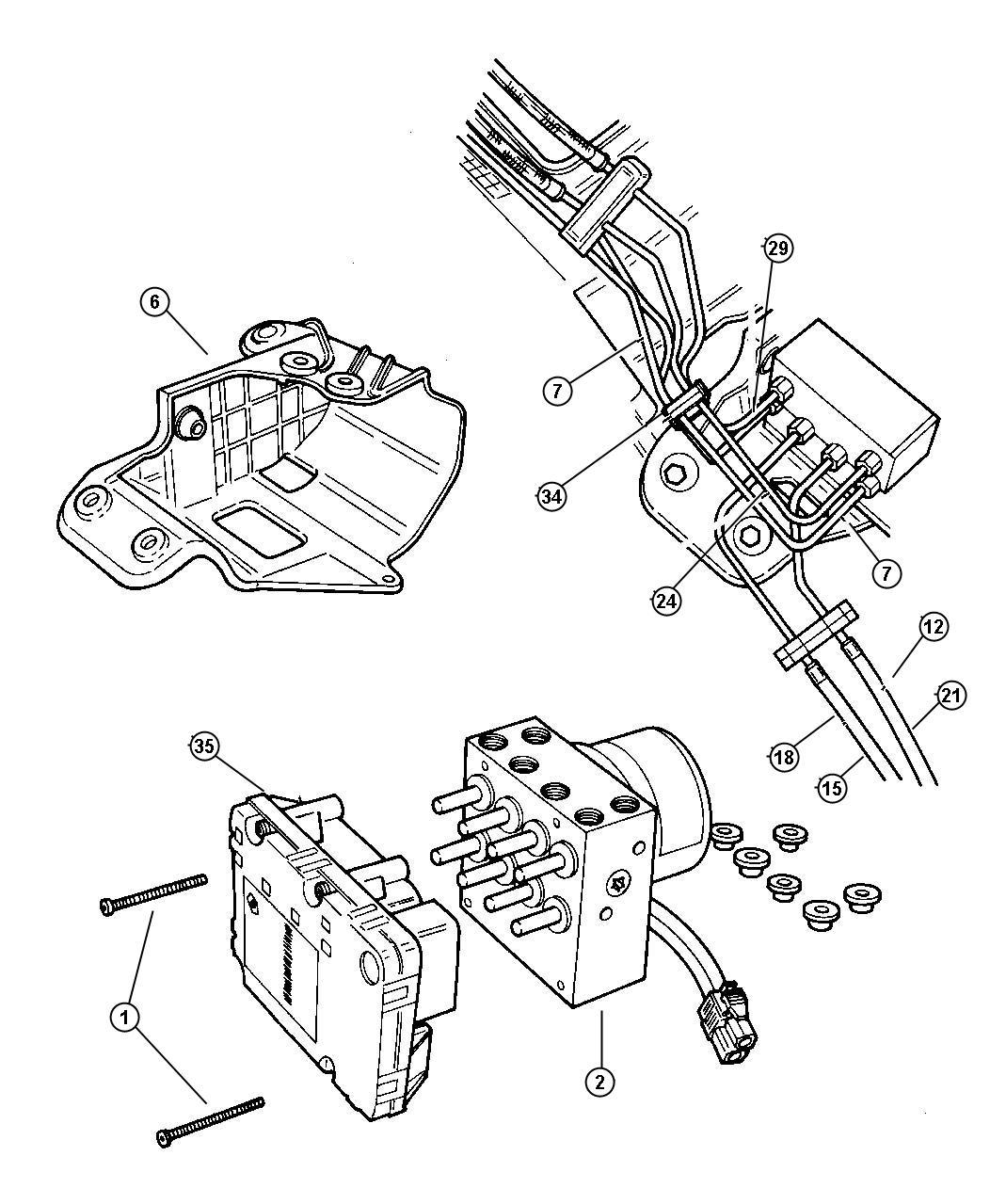 1998 Dodge Caravan Tube. Brake, junction block to valve