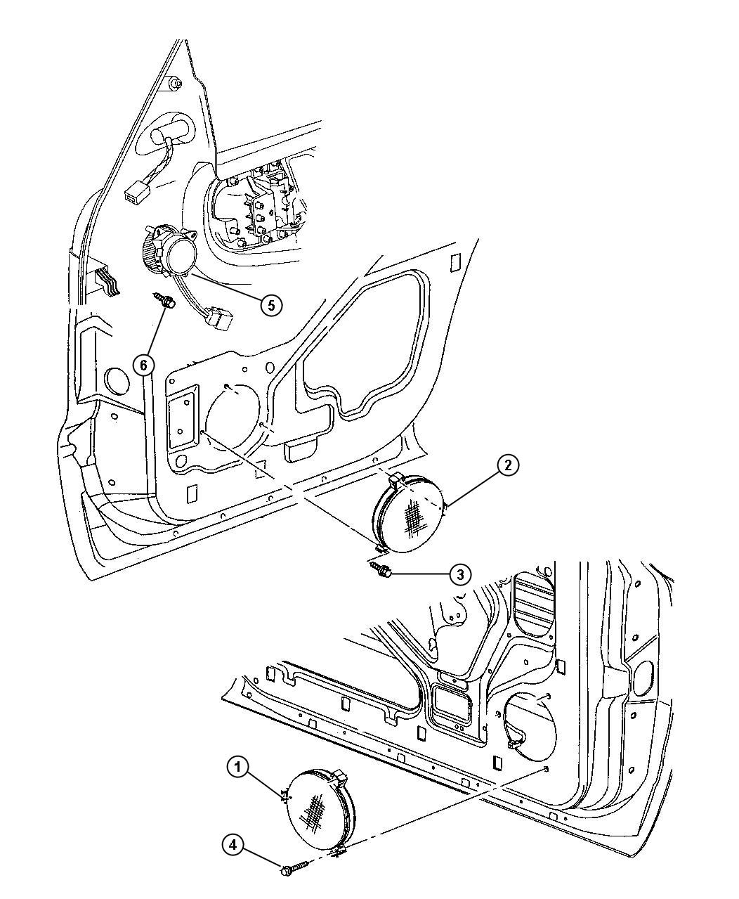 1999 dodge durango infinity stereo wiring diagram 2004 f250 fuse panel speaker 6 5 front door