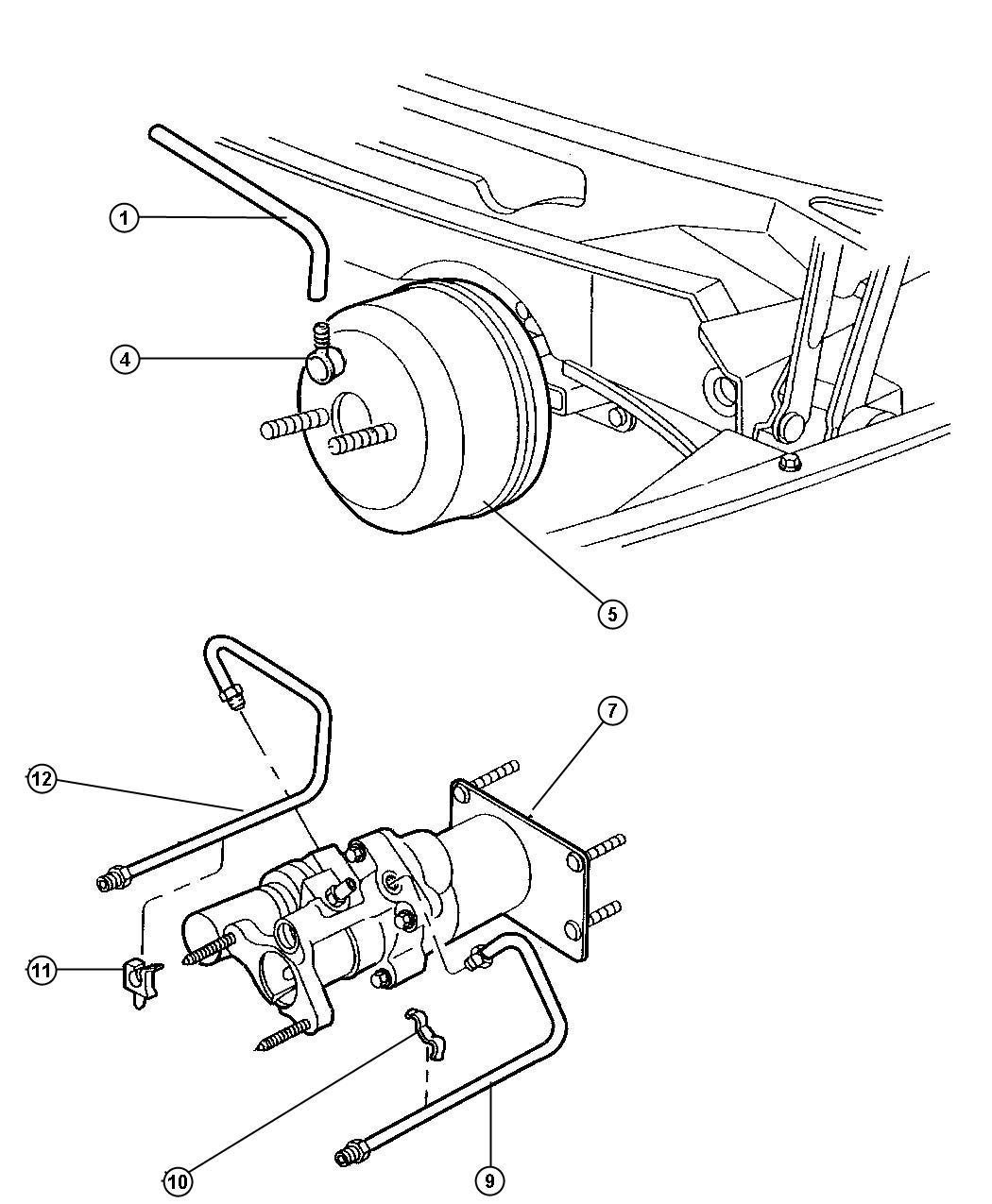 1997 Dodge Ram 3500 Booster. Power brake. Mopar, hydro
