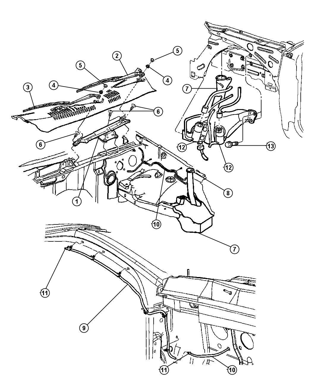 Jeep Grand Cherokee Pump Washer Windshield Rear Wiper