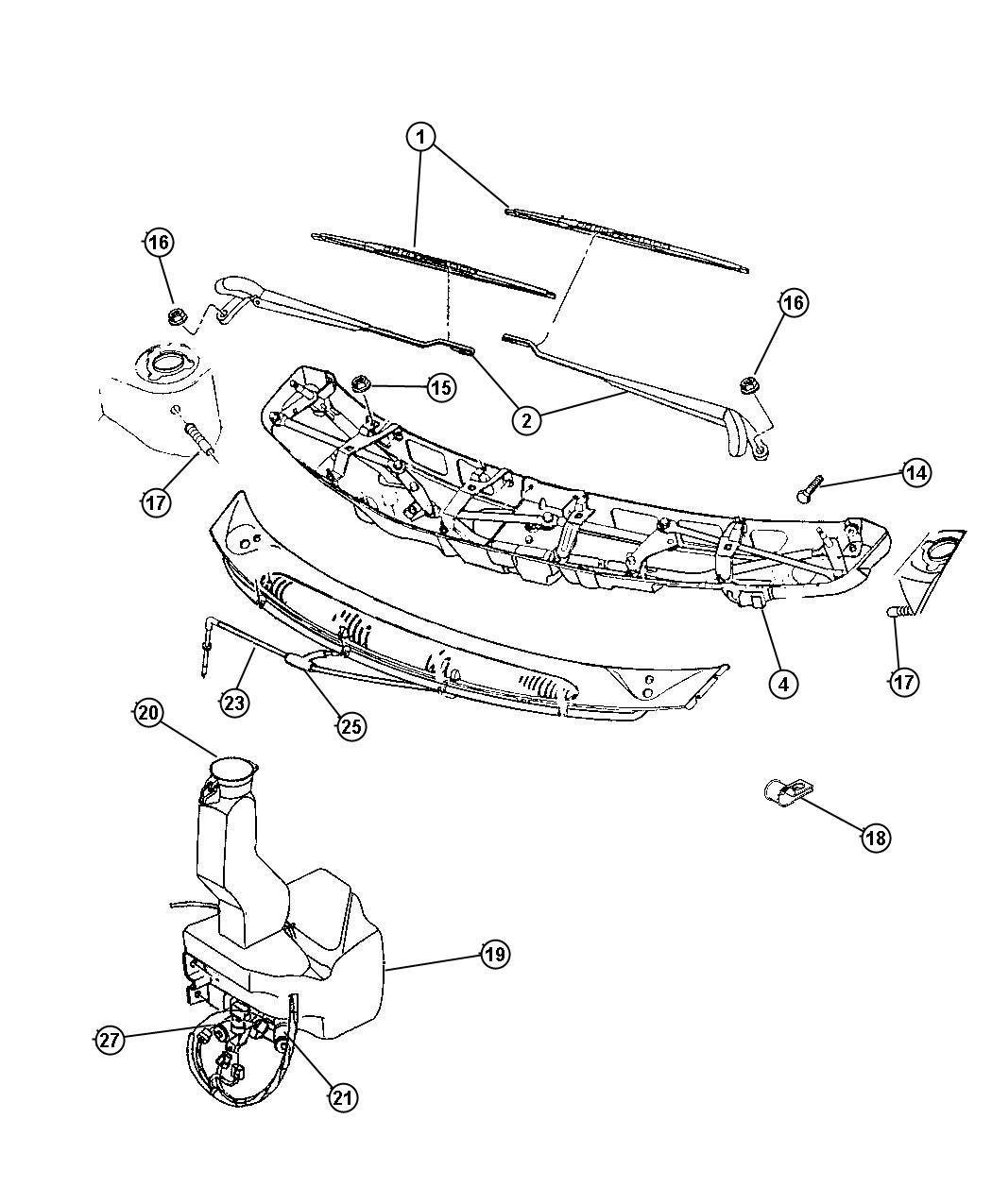 Dodge Caravan Wiper Diagram