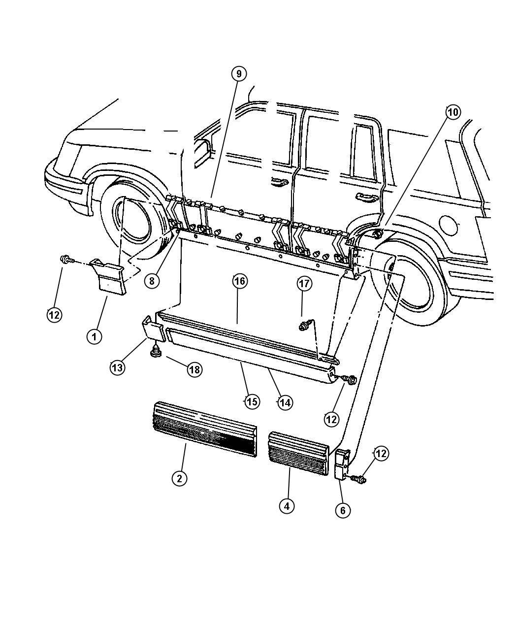 Jeep Grand Cherokee Retainer Cladding Right Sill