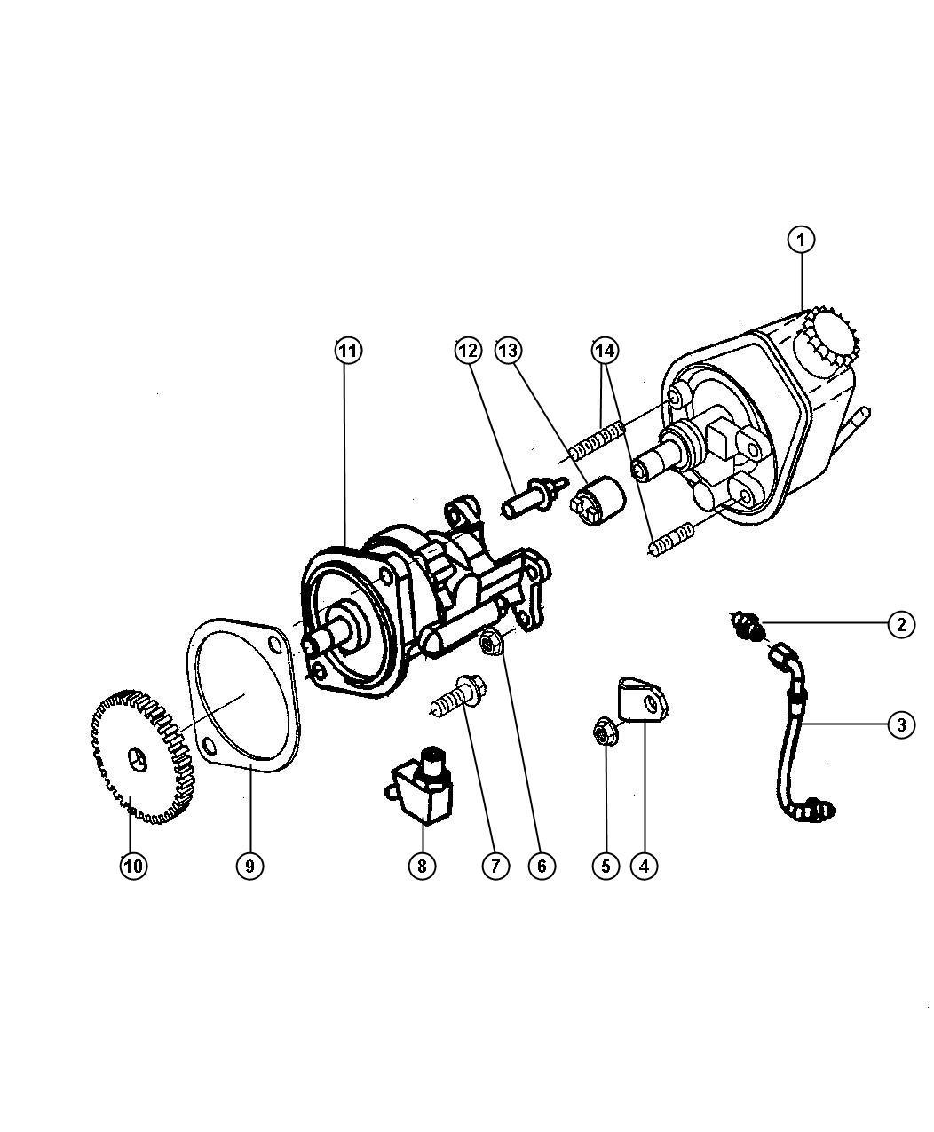 Dodge Dakota Hub Hydraulic Brake Pump Etb Etc Jaw