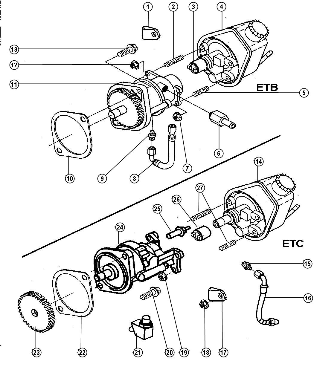 Dodge Ram Hose Brake Vacuum Etb Emissions