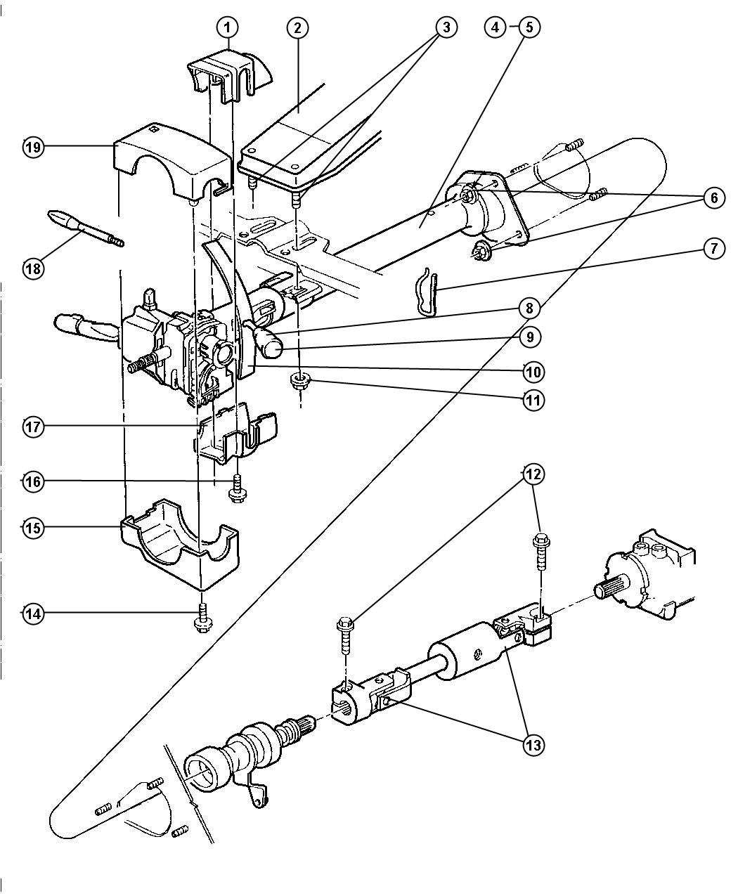 Dodge Ram Shaft Intermediate Lower Steering