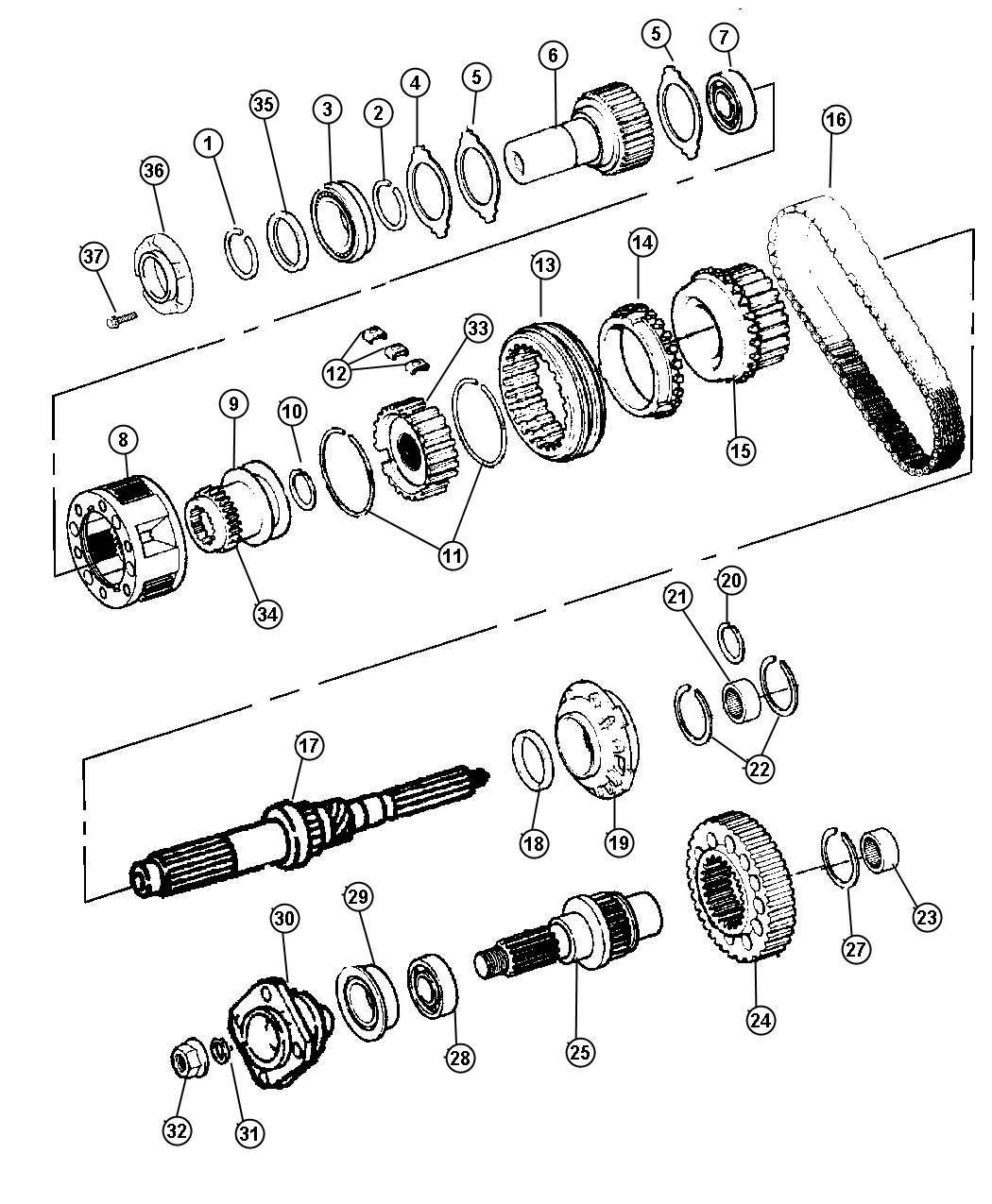 2001 Dodge Ram 3500 Bearing. Automatic transmission