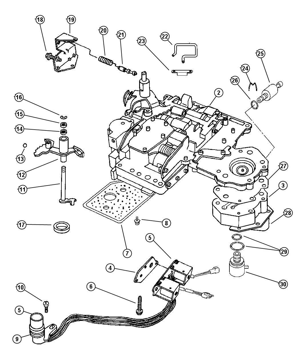 1996 Dodge Solenoid. Transmission overdrive. Prong