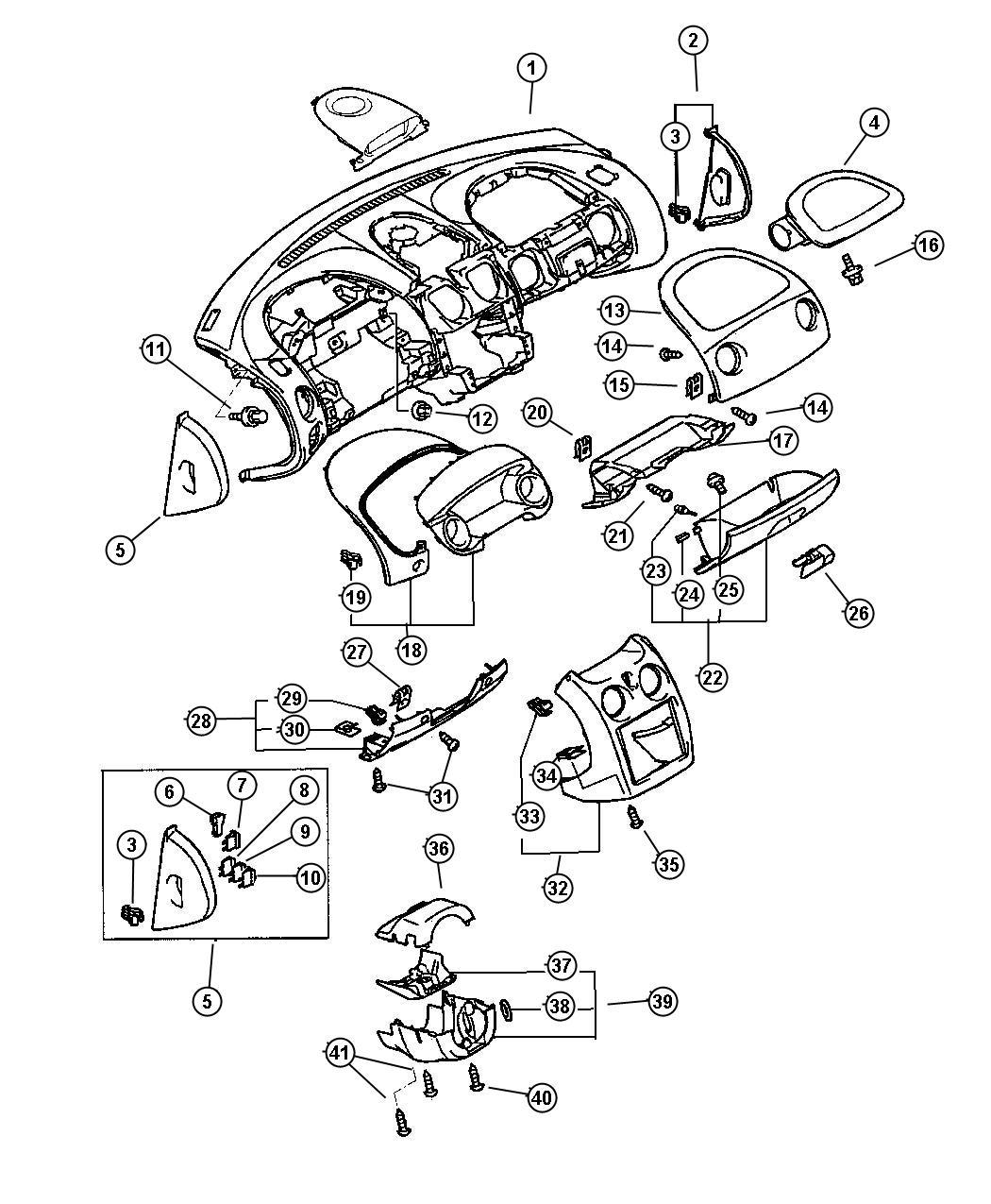 Chrysler Sebring Fuse. Mini. 15 amp, light blue