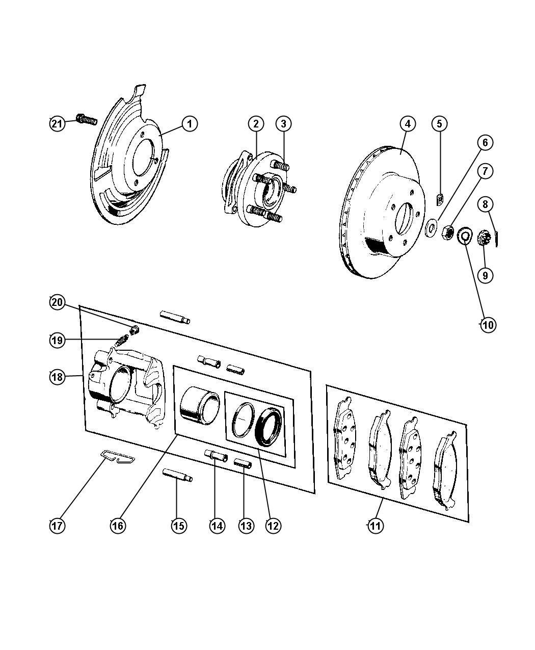 1998 Jeep Grand Cherokee Rotor. Brake. Magneti marelli