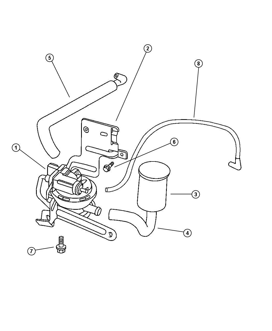 1999 Jeep Cherokee Pump. Leak detection. Emissions