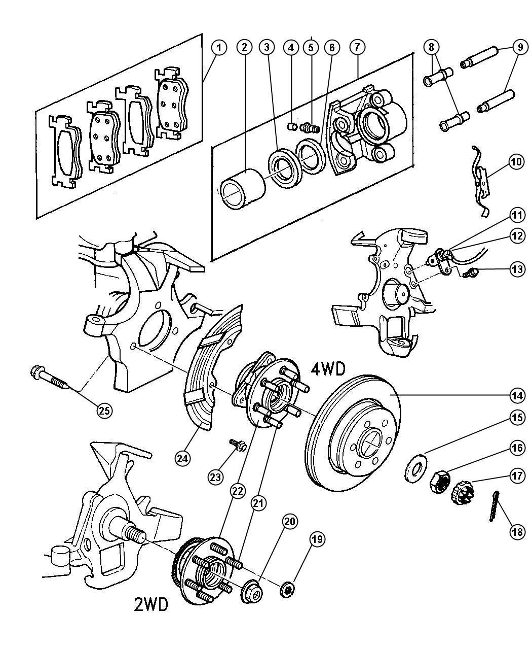 1999 dodge ram 1500 front axle diagram 2002 subaru impreza stereo wiring durango caliper left disc brake reman loaded