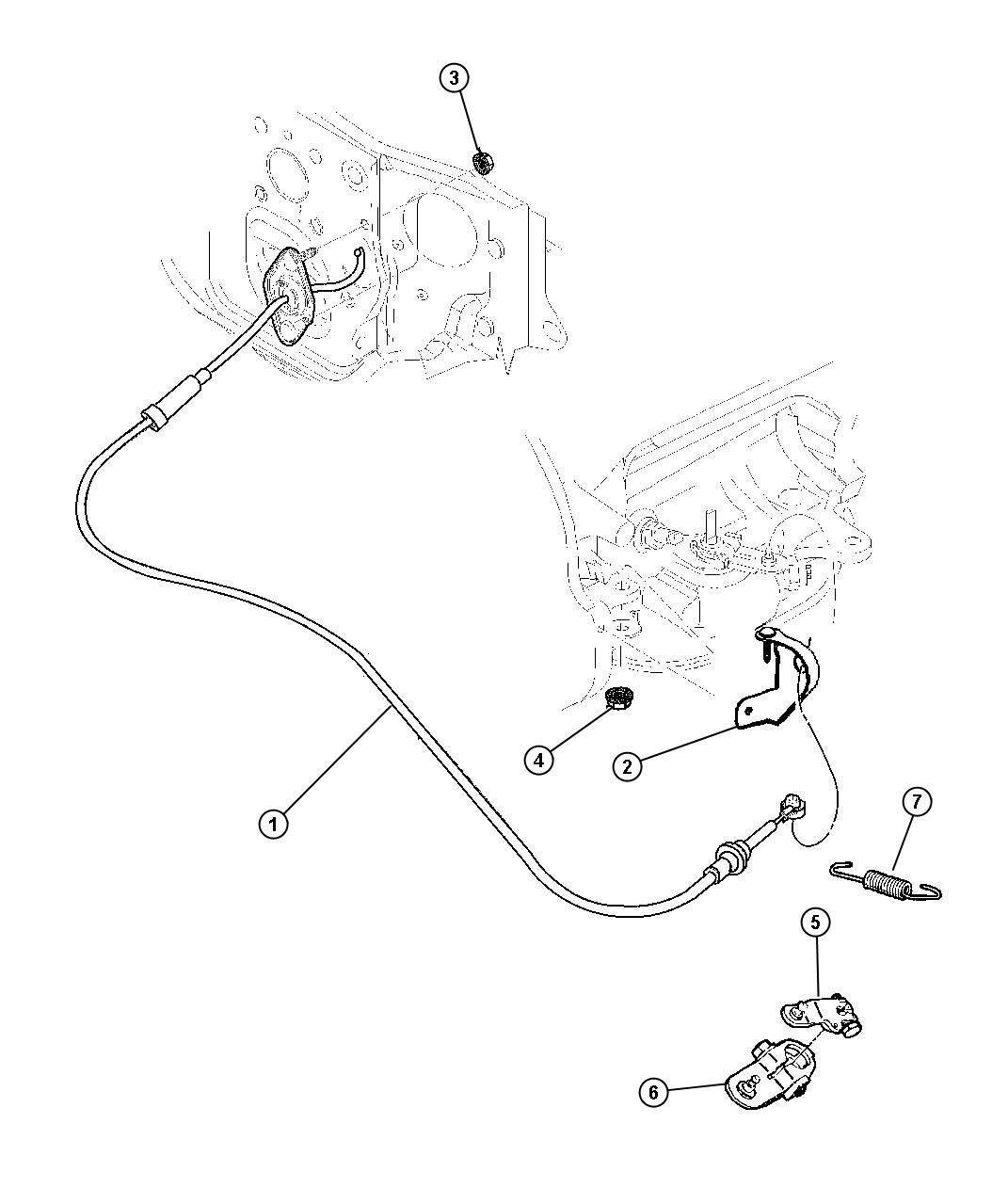 2001 Dodge Dakota Cable. Shift. Gearshift, controls, dgt