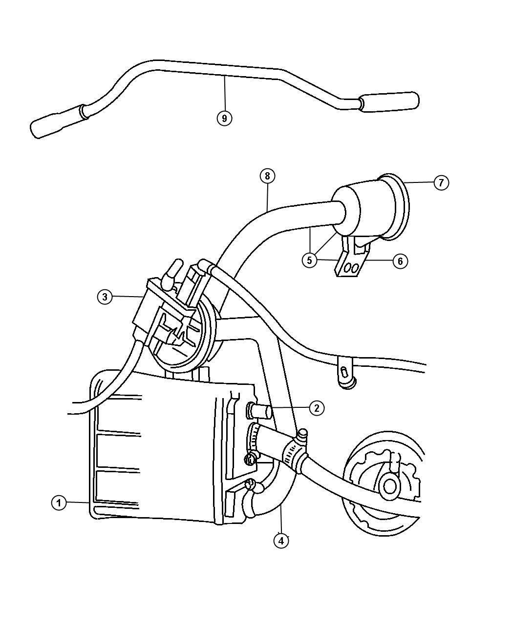 Dodge Nitro Pump Leak Detection Emissions Canister