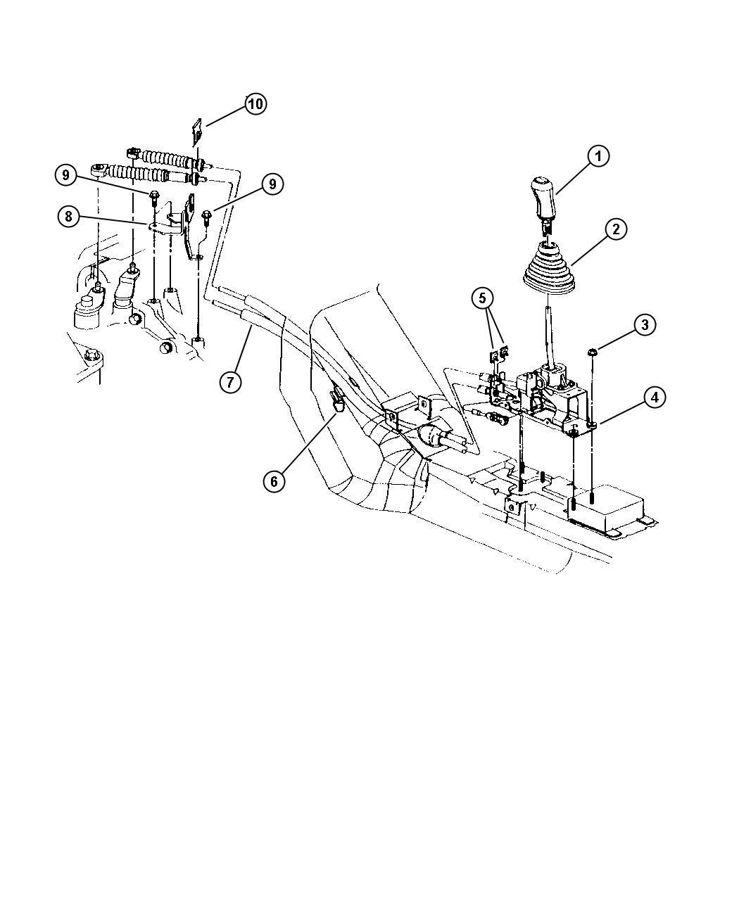 1999 Dodge Stratus Shifter. Transmission. Rear, cylinder