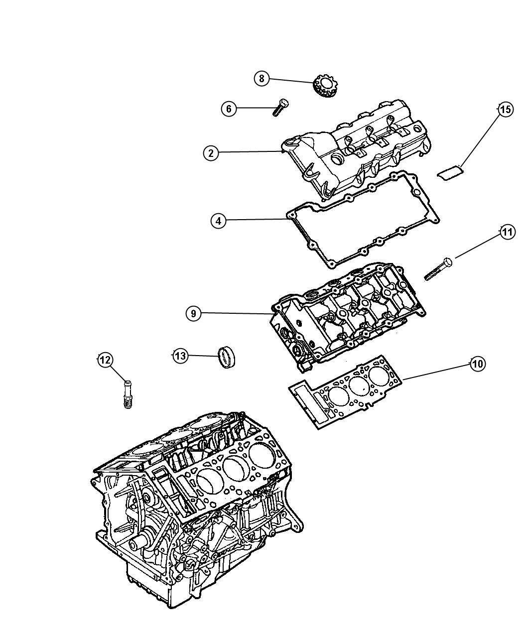 Dodge Intrepid Gasket Cylinder Head Cover Left Engine