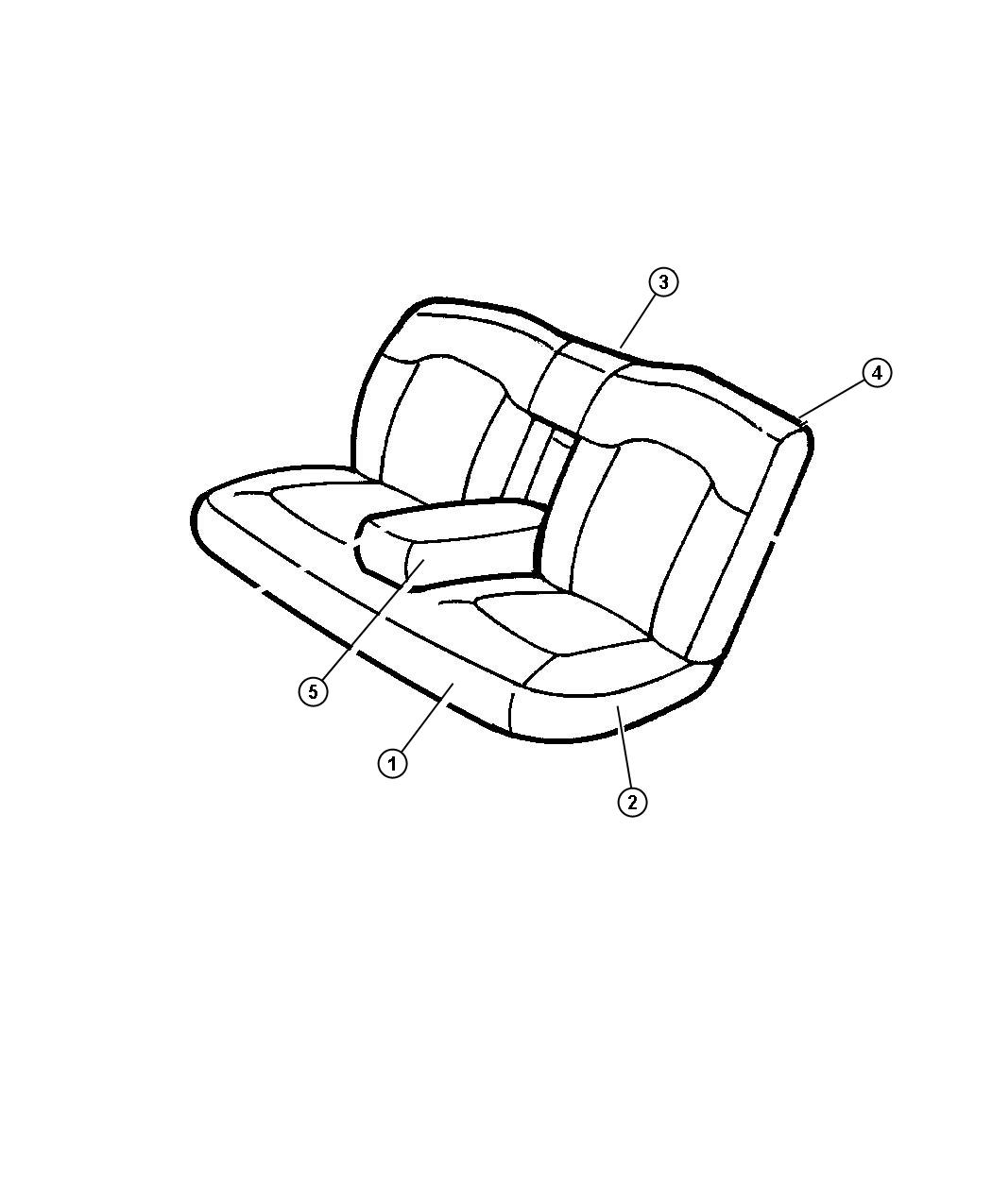 Chrysler Lhs Armrest Rear Seat Center L2 Trim Seats