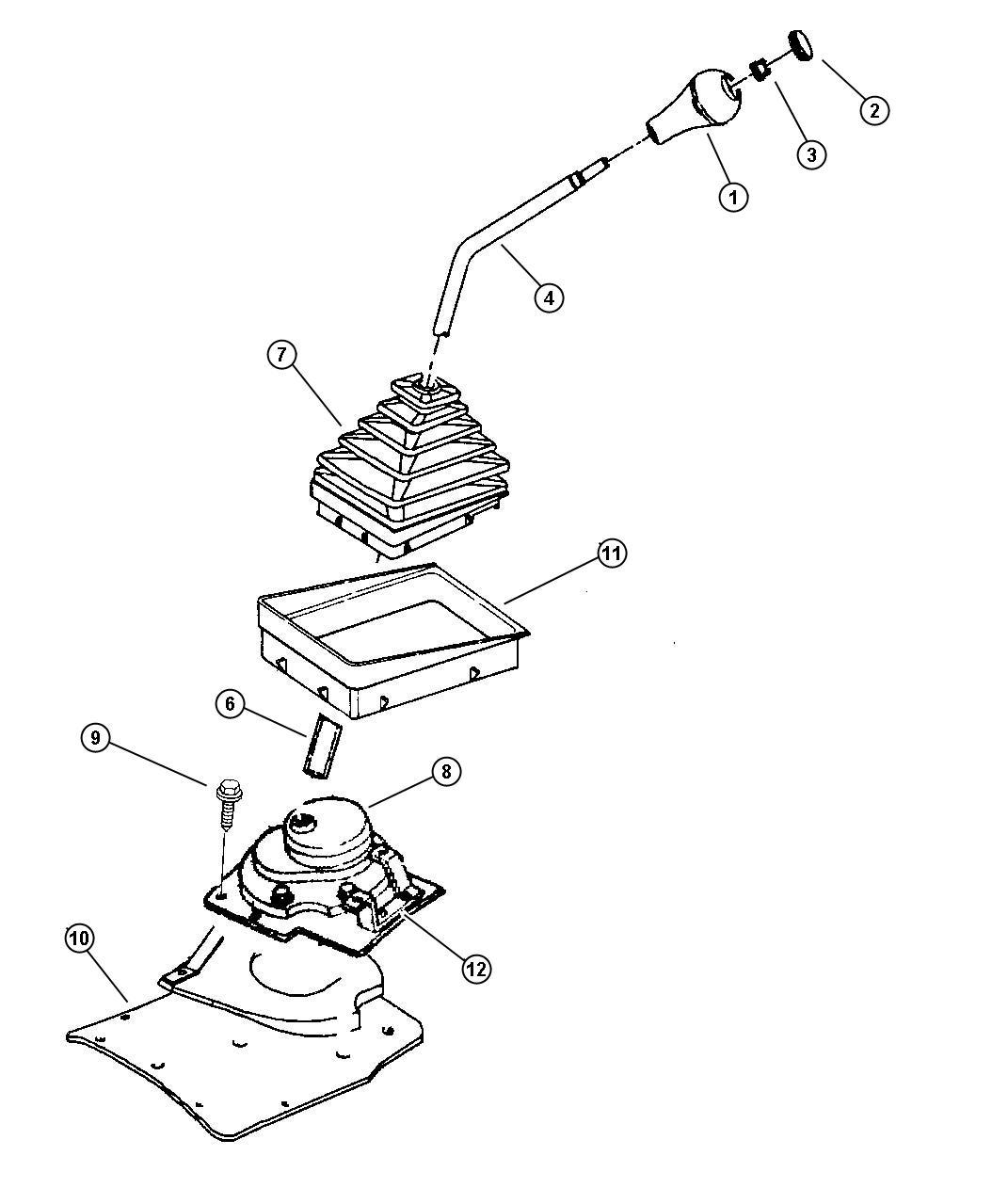 Jeep Wrangler Insert Transmission Shift Knob Shift