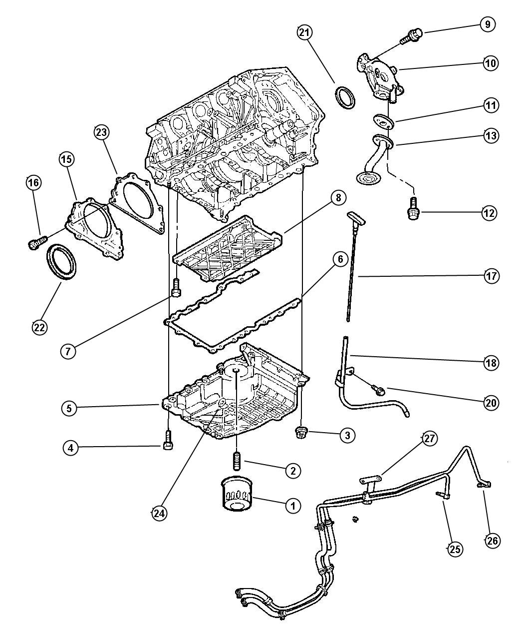 Dodge Stratus Indicator. Engine oil level. Oiling