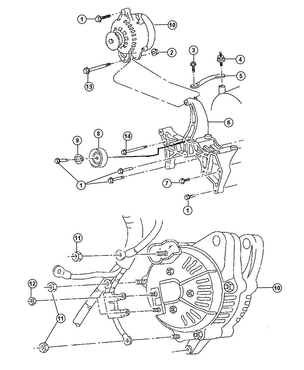 Jeep Grand Cherokee Bracket. Used for: alternator and