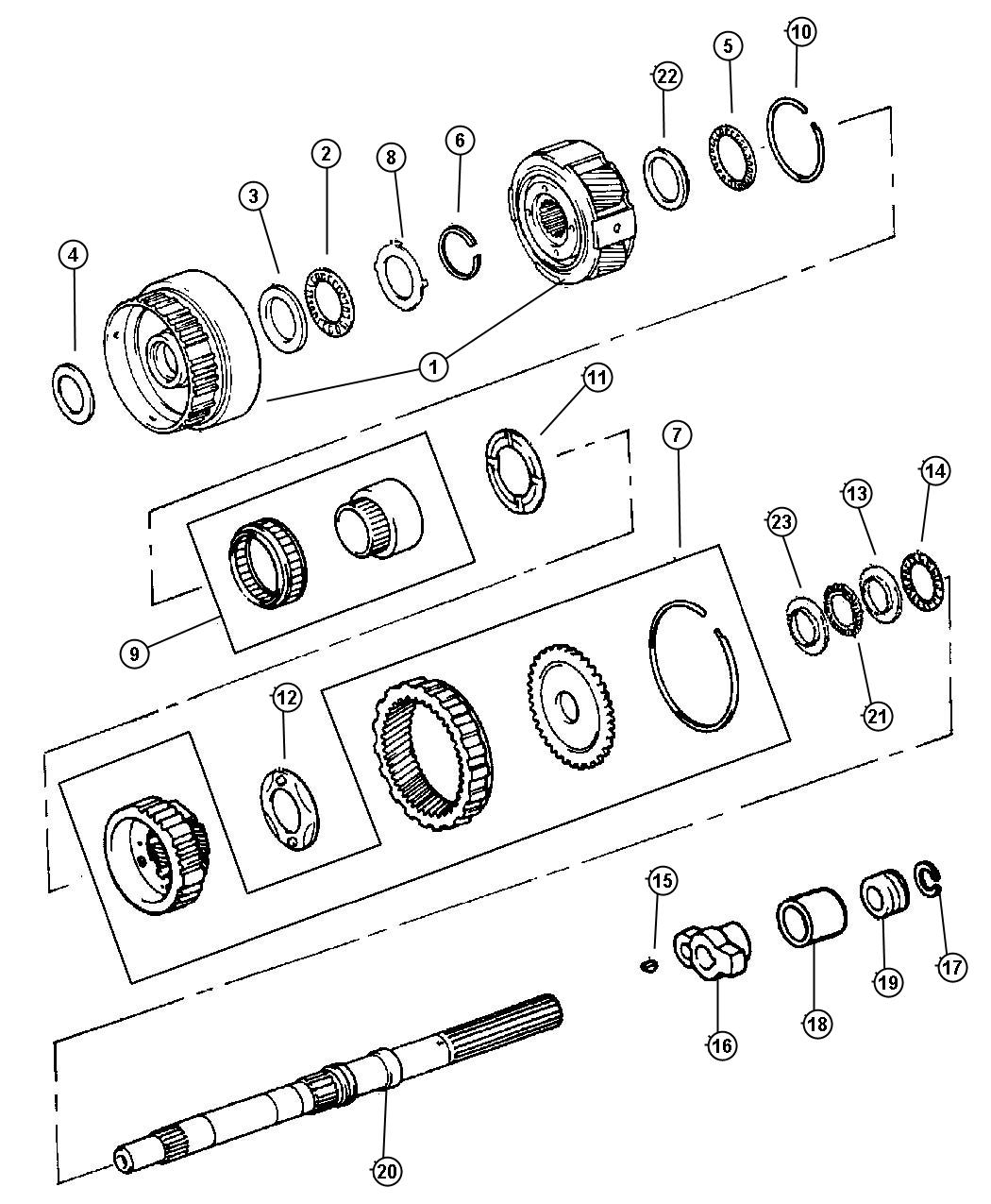 Jeep Cherokee Gear. Speedometer drive. 2 wd, 52104180ab