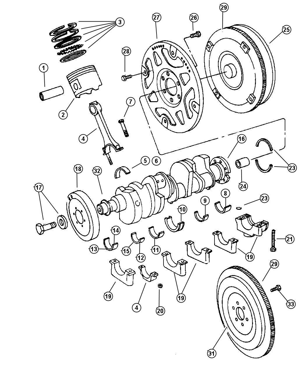 2007 Dodge Caliber Plate. Torque converter drive. Piston