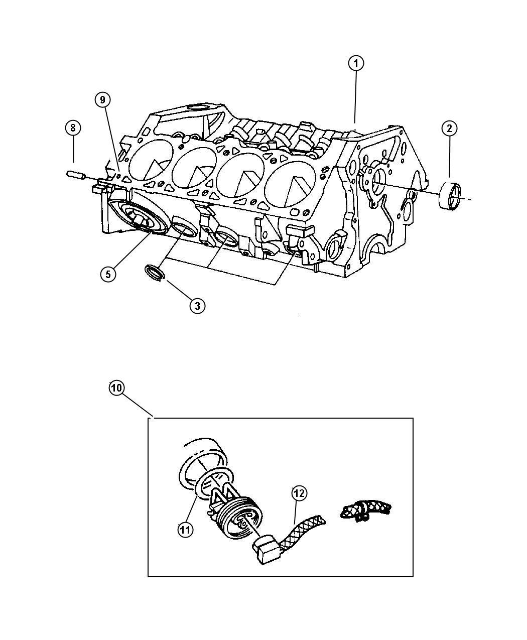Dodge Ram Block Short Contains Crank Rods
