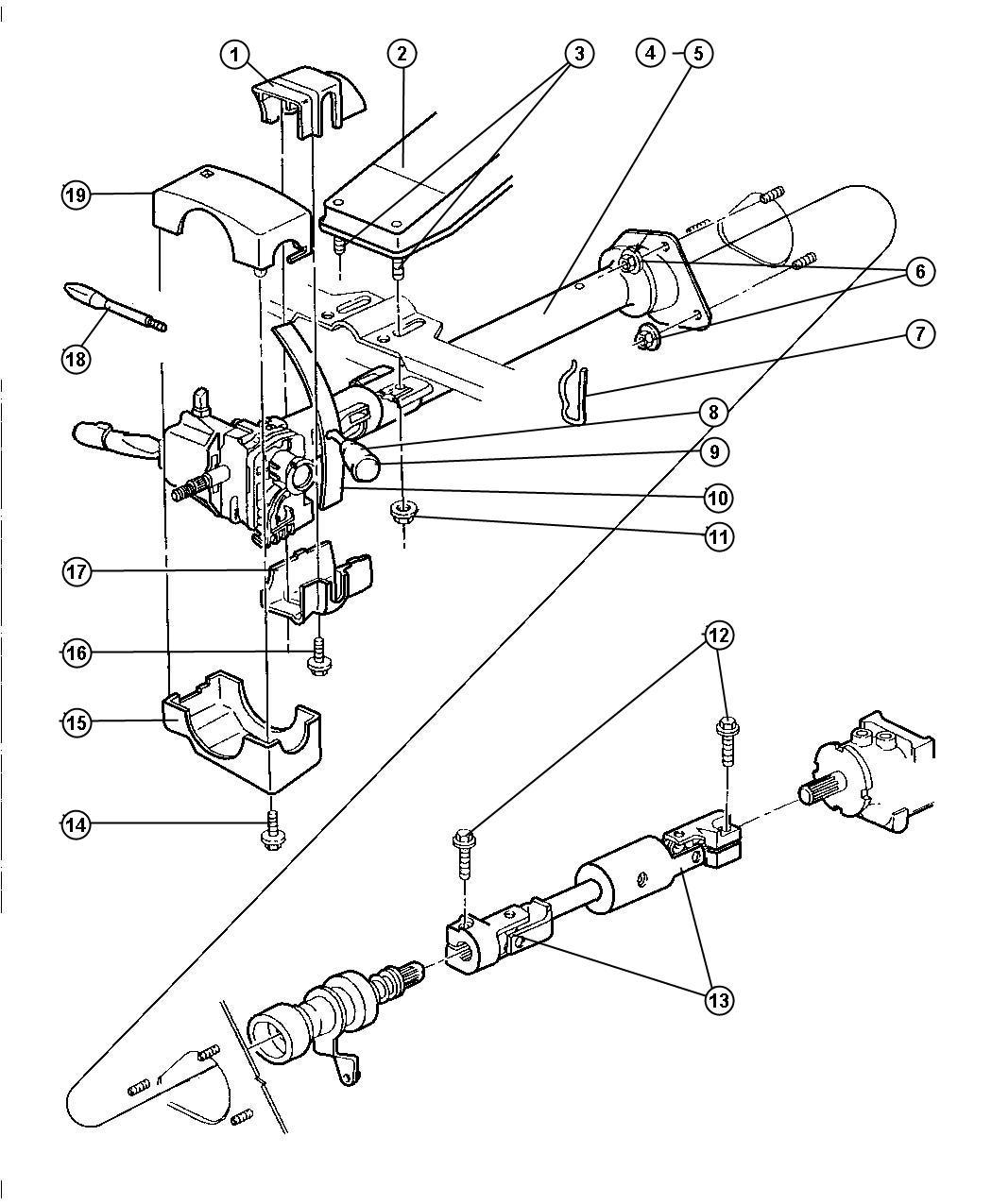 Dodge Ram Shaft Intermediate