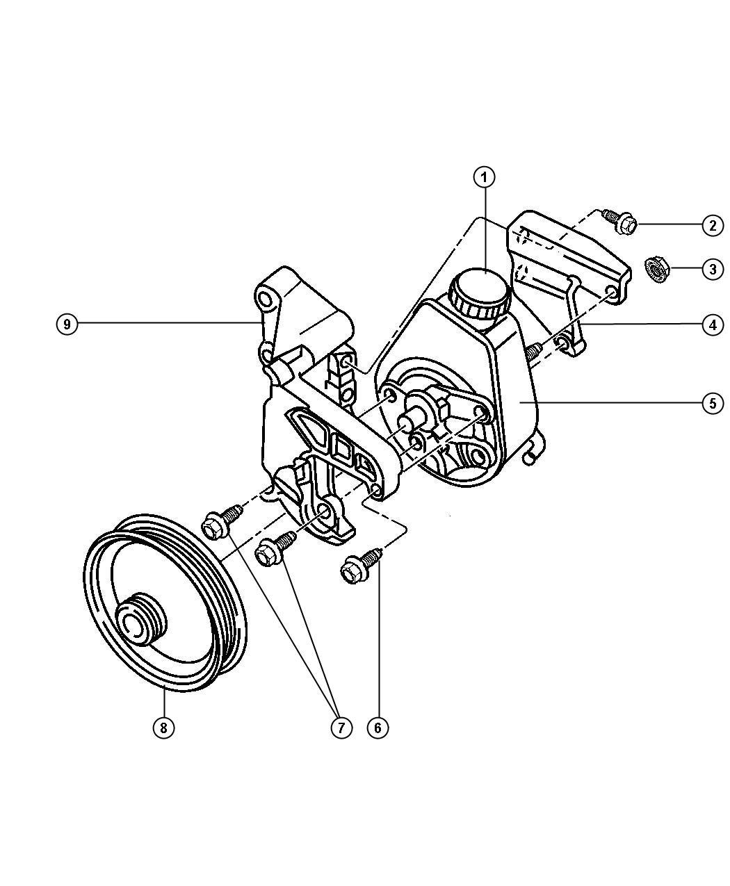 Jeep Wrangler Pulley Power Steering Pump