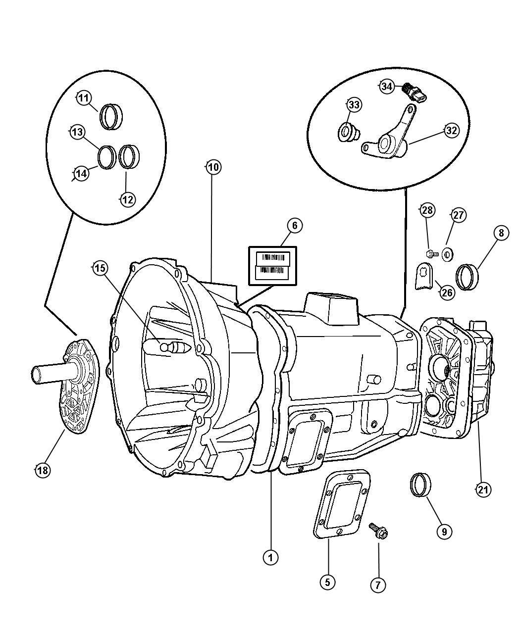 1986 Dodge Plug. Oil fill, transmission. Detent. Case