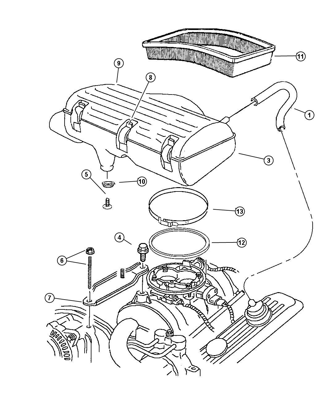 Jeep Cherokee Filter. Air. Element, air cleaner, filter