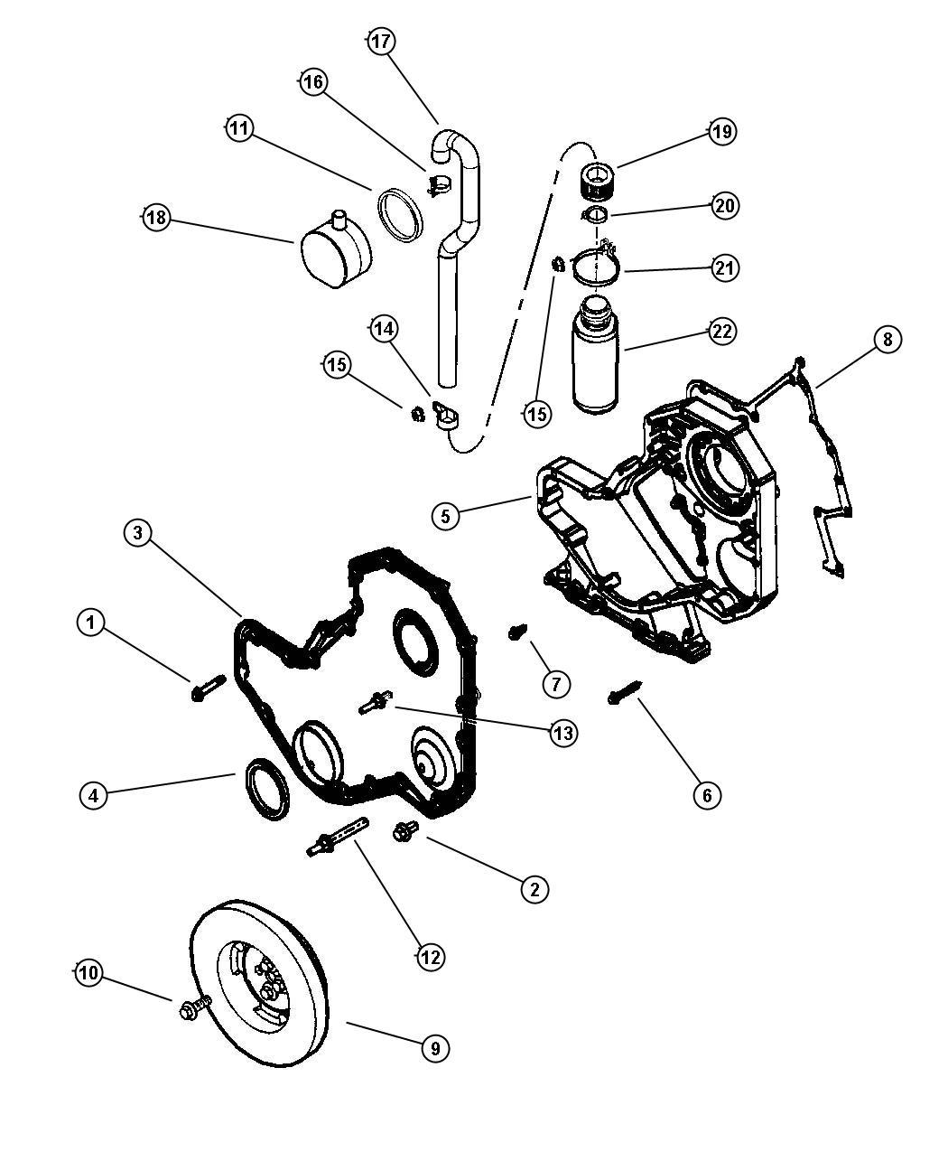 Dodge Ram Hose Engine Vent Line Up To 7 5 00
