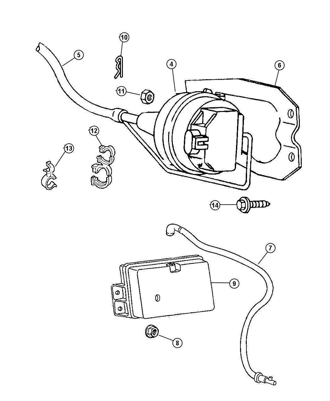 2000 Dodge Ram 2500 Reservoir. Vacuum. Cruise control