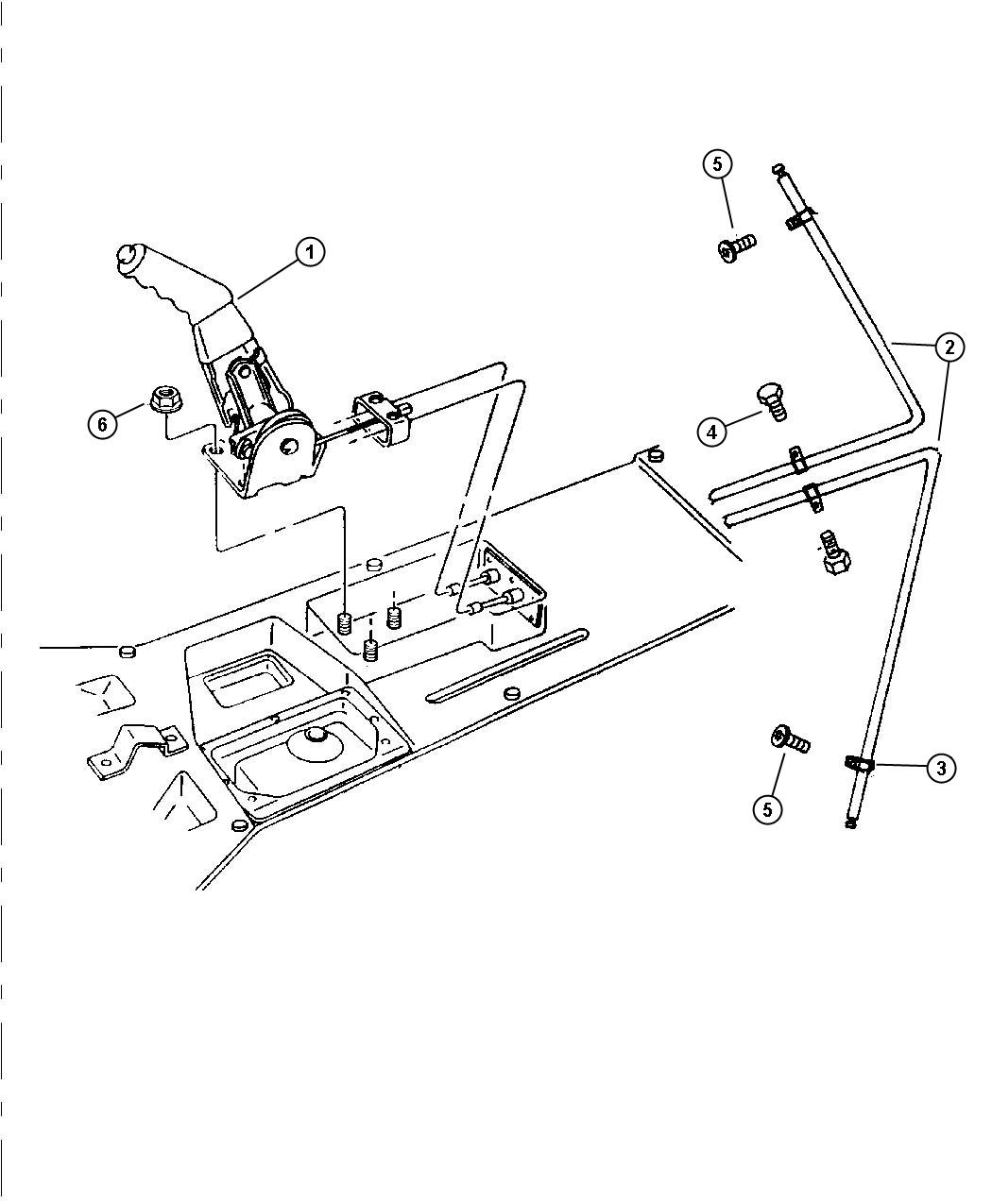 Jeep Wrangler Cable Parking Brake With Clips