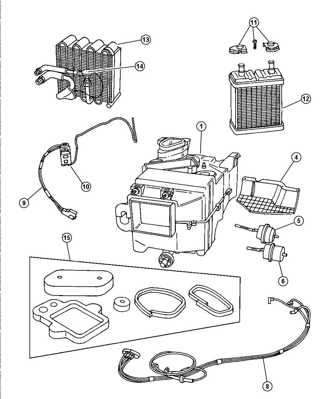 Dodge Viper Evaporator Air Conditioning Unit Hevac