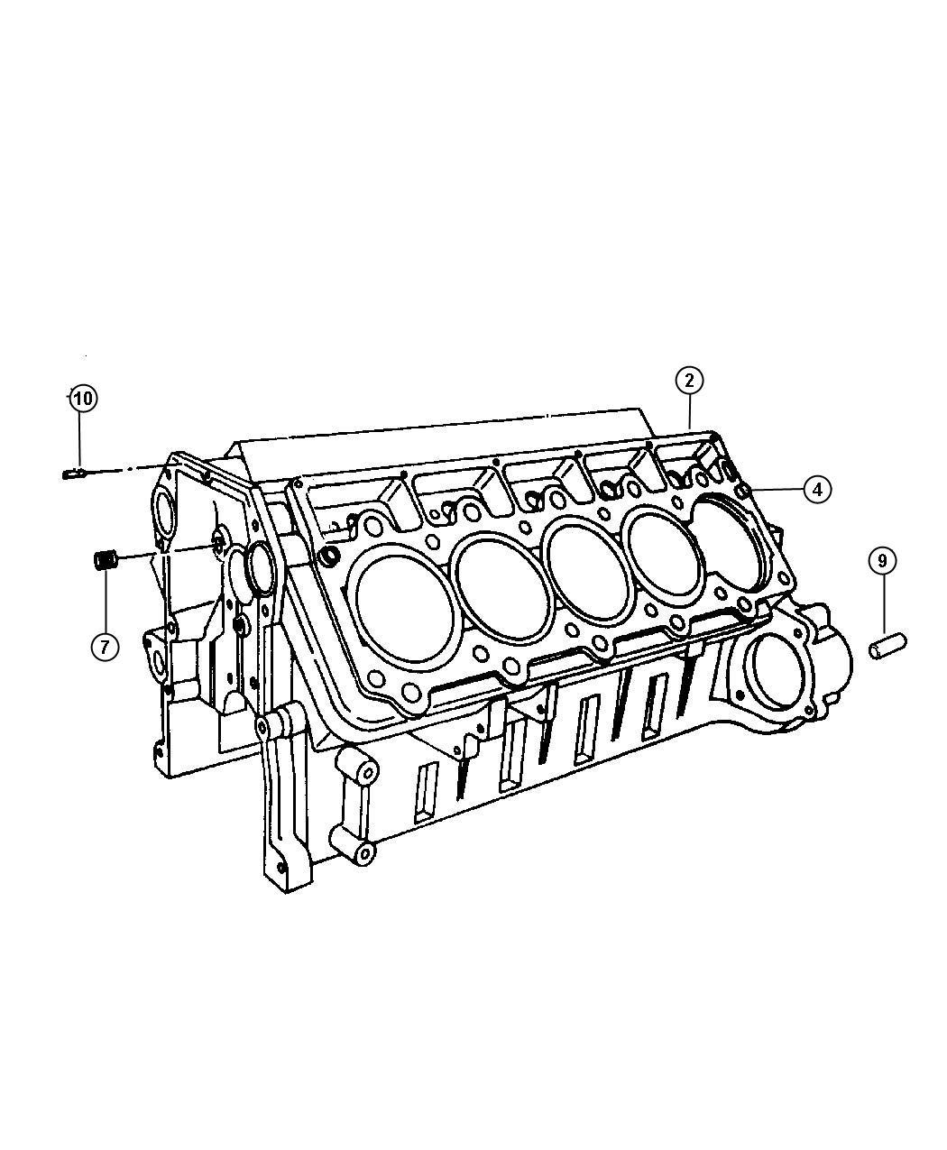 Dodge Viper Block Cylinder Engine Group Competition