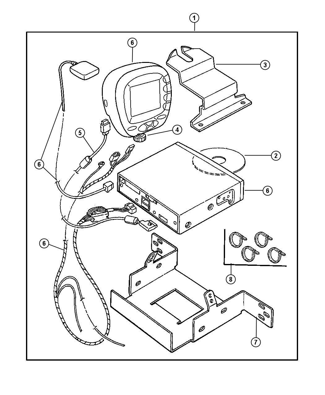 2001 Chrysler PT Cruiser Navigation kit. Generic system