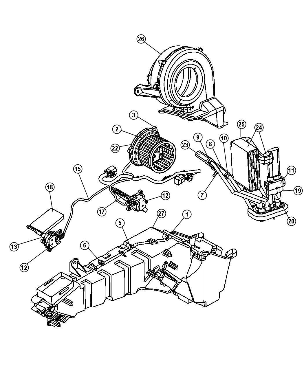 2001 Dodge Durango Motor. Blower with wheel. Up to 1-3-08