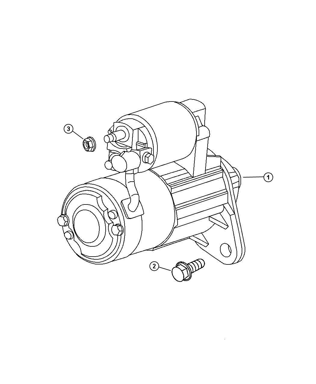 Chrysler Pt Cruiser Starter Engine Remanufactured