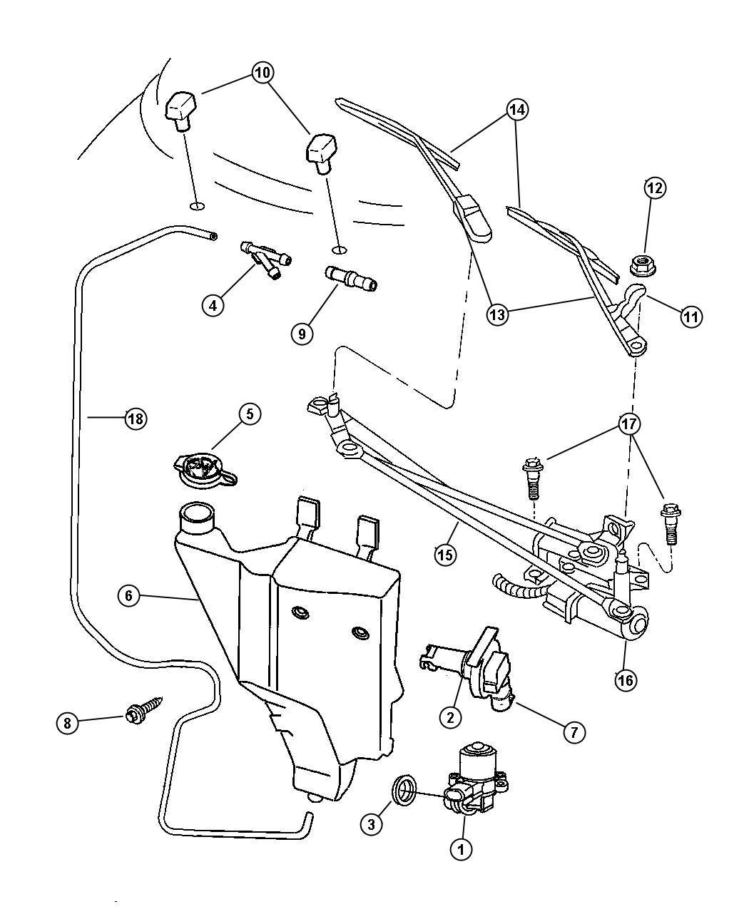 2013 Dodge Avenger Grommet. Washer reservoir. 19mm id