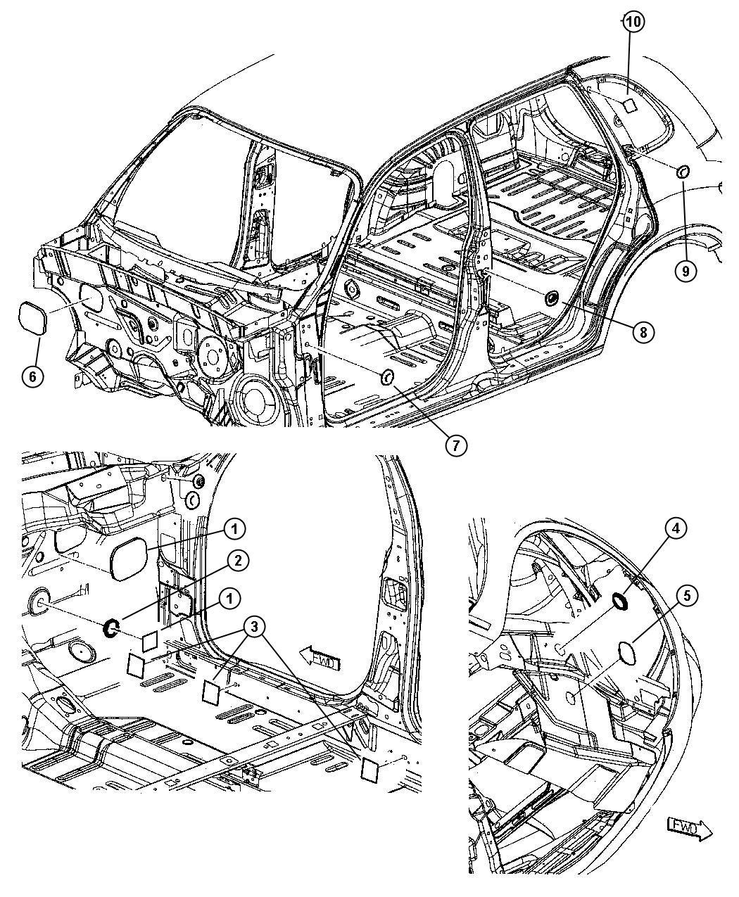 Dodge Ram Plug Splash Shield