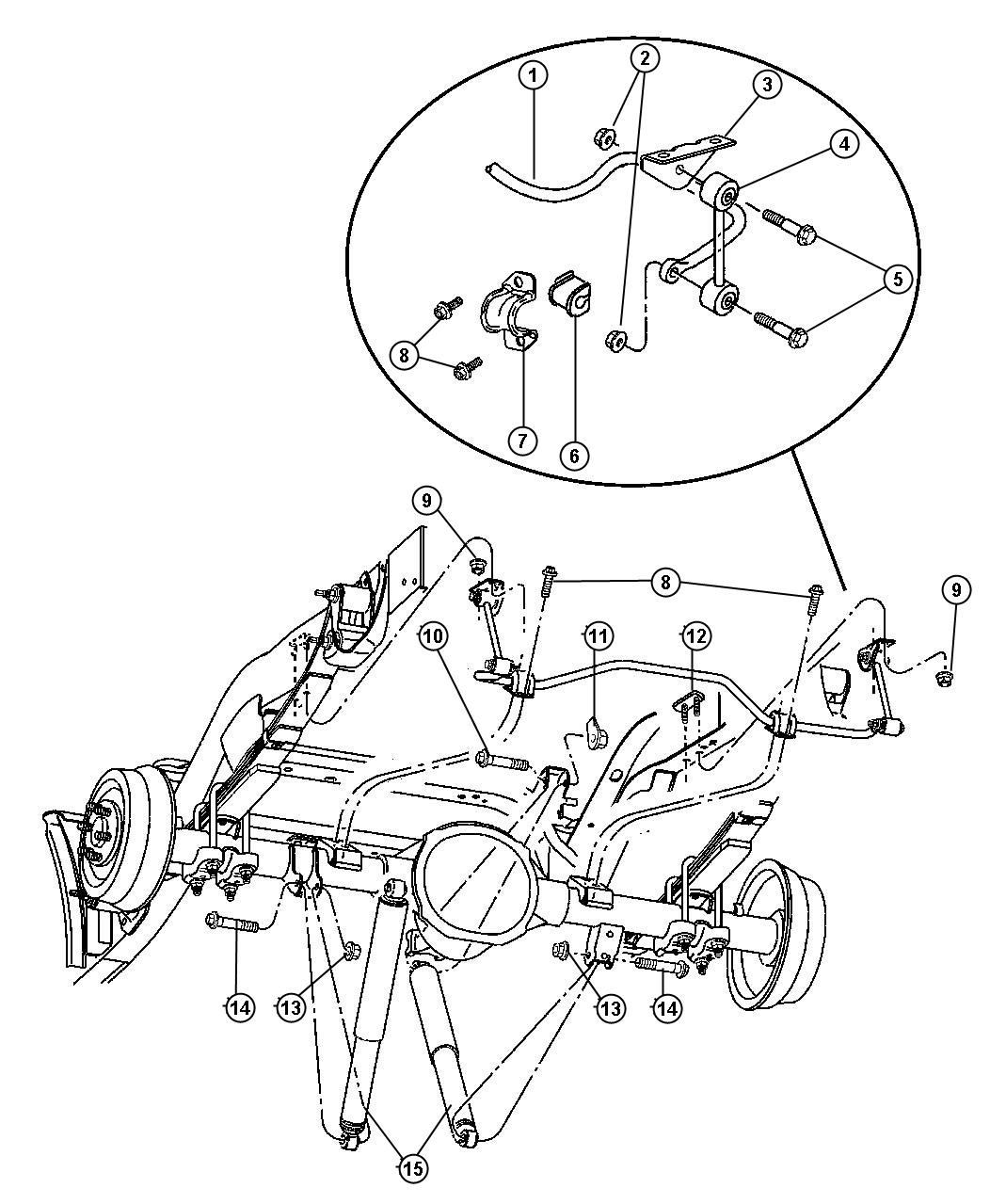 Dodge Dakota Link Stabilizer Bar Sway Eliminator