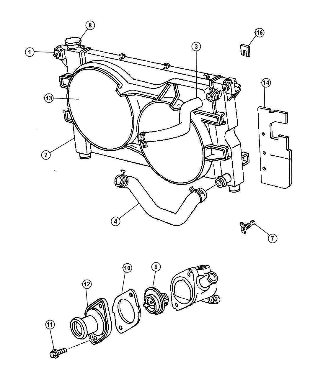 Jeep Liberty Gasket Thermostat