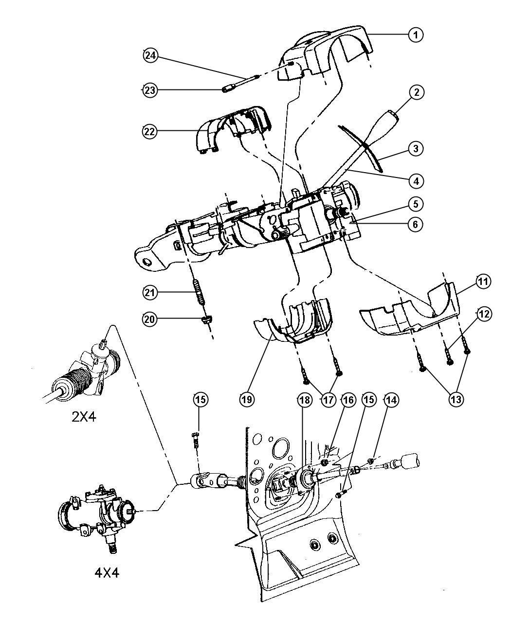 Dodge Dakota Shaft Intermediate Lower Steering Column